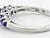 Blue Kyanite Sterling Silver Ring 1.04ctw.
