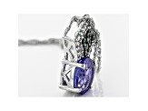 Blue Tanzanite Sterling Silver Pendant With Chain 1.25ctw
