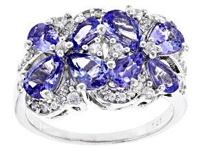 Blue Tanzanite Sterling Silver Ring 2.75ctw