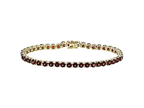 Red Garnet Sterling Silver Tennis Bracelet 14.52ctw