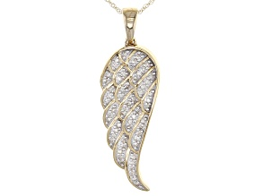 White Diamond 14k Yellow Gold Pendant .15ctw