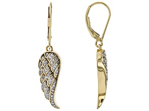 White Diamond 14k Yellow Gold Earrings .25ctw