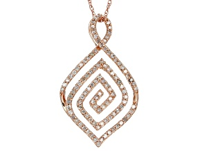 White Diamond 14k Rose Gold  .38ctw