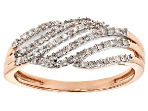 White Diamond 14k Rose Gold Ring .20ctw