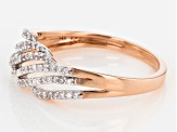 White Diamond 14k Rose Gold Band Ring .20ctw