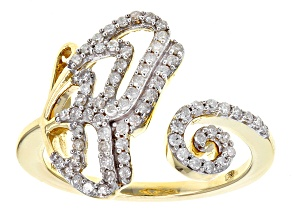 White Diamond 14k Yellow Gold Ring .35ctw