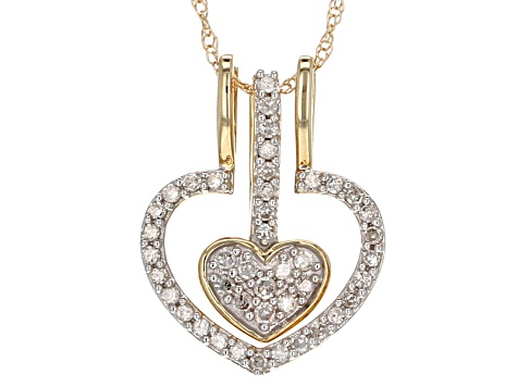 White diamond 14k yellow gold pendant 22ctw pac064 jtv white diamond 14k yellow gold pendant 22ctw aloadofball Image collections
