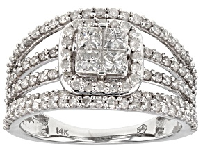 White Diamond 14k White Gold Ring 1.52ctw