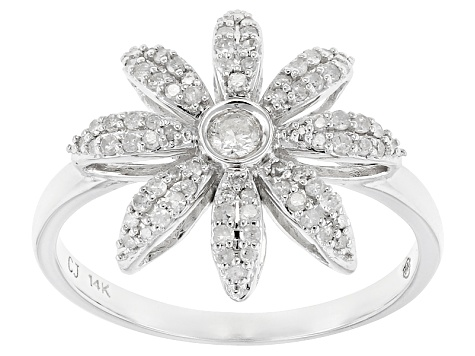 White Diamond 14k White Gold Ring .33ctw