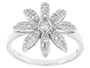 White Diamond 14k White Gold Ring .33ctw