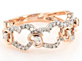 White Diamond 14k Rose Gold Ring .33ctw