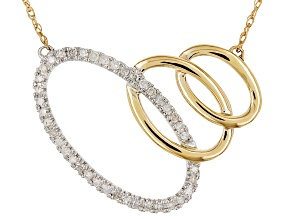 White Diamond 14k Two Tone Necklace .16ctw