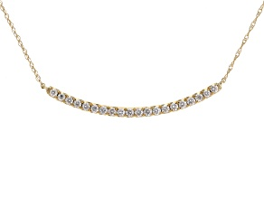 White Diamond 14k Yellow Gold Necklace .50ctw