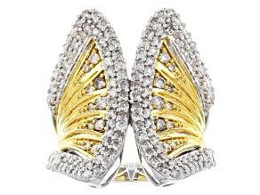 White Diamond 14k White Gold Two-Tone Ring 1.80ctw