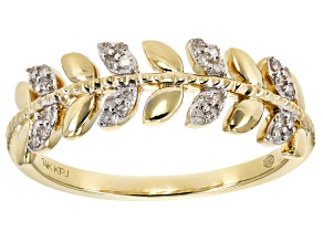 White Gold 14k Yellow Gold Ring .10ctw