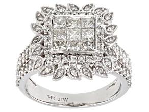 White Diamond 14K White Gold Ring 1.50ctw
