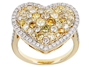 Natural Multi-Color Diamond 14k Yellow Gold Ring 1.82ctw