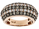 Champagne & White Diamond 14K Rose Gold Ring 1.62ctw