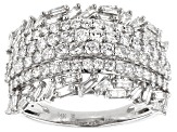 White Diamond 14k White Gold Wide Band Ring 1.50ctw