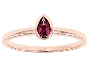 Pink Tourmaline 14k Rose Gold Solitaire Ring 0.20ct