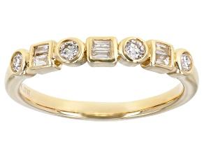 White Diamond 14k Yellow Gold Band Ring 0.25ctw