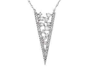 White Diamond 14k White Gold Drop Necklace 0.33ctw