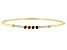 Red Garnet & White Diamond 14k Yellow Gold Hollow Cuff Bracelet 0.42ctw