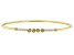 Green Peridot & White Diamond 14k Yellow Gold Hollow Cuff Bracelet 0.37ctw