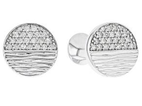 White Diamond 14k White Gold Cufflinks 0.60ctw