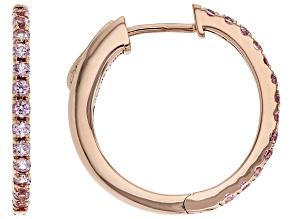 Pink Sapphire 14k Rose Gold Hoop Earrings 0.42ctw