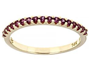 Purple Rhodolite 14k Yellow Gold Band Ring 0.33ctw