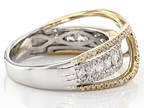 Diamond 14k Two-Tone Ring 1.00ctw