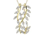 White Diamond 14k Yellow Gold Pendant .33ctw