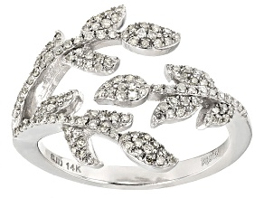 White Diamond 14k White Gold Ring .40ctw