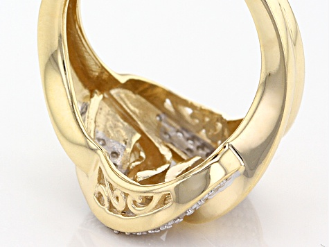 White Diamond 10k Yellow Gold Ring .22ctw