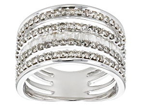 White Diamond 14k White Gold Ring 1.43ctw