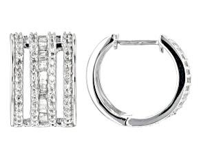 White Diamond 14k White Gold Earrings 1.43ctw