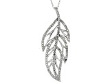 White Diamond 14k White Gold Pendant .30ctw