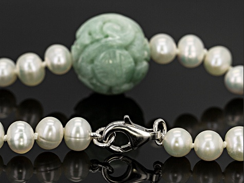 Green Jadeite Sterling Silver Necklace