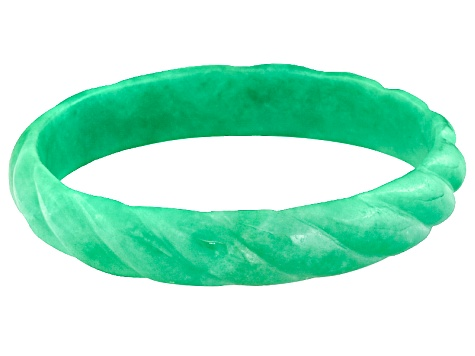 Green Jadeite Bangle Bracelet