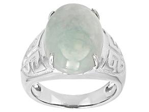 Green Jadeite Silver Ring