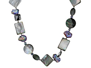 Peacock Cultured Freshwater Pearl Silver Necklace