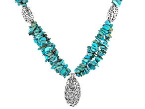 Turquoise 3-Strand Sterling Silver Necklace