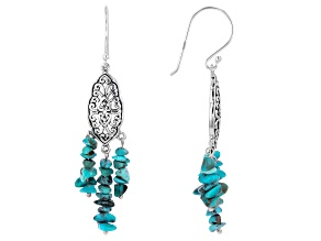 Turquoise Chip Sterling Silver Earrings