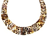 White and Brown Shell Collar Necklace