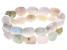 Mix Color Beryl Silver Stretch Bracelet