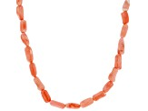 Pink Bamboo Coral Bead Necklace