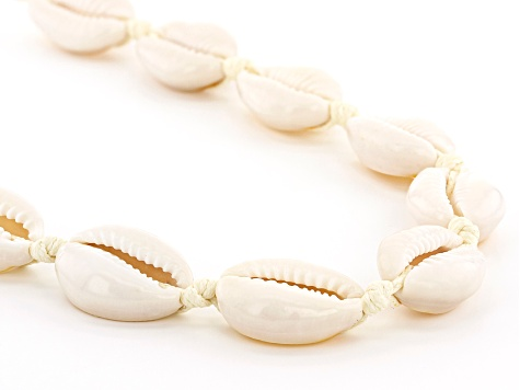 Pacific Style™ Shell Rhodium Over Sterling Silver  Necklace