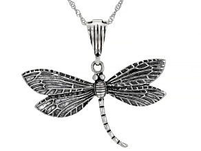 Pacific Style ™ Dragonfly Sterling Silver Enhancer with Chain