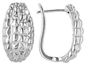 Tortoise Shell Textured Sterling Silver Earrings